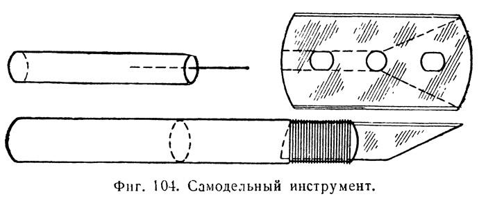 Фиг. 104. Самодельный инструмент