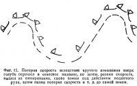 Фиг. 11. Голубь перешел в отвесное падение