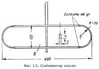 Фиг. 125. Стабилизатор модели