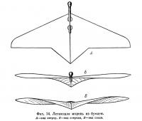 Фиг. 14. Летающая модель из бумаги