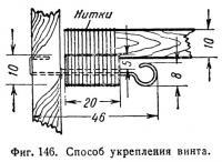 Фиг. 146. Способ укрепления винта
