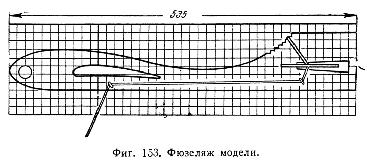 Фиг. 153. Фюзеляж модели