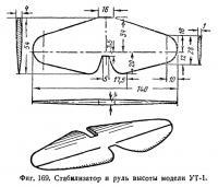 Фиг. 169. Стабилизатор и руль высоты модели УТ-1