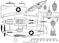 Фиг. 184. Детали модели истребителя Мустанг