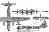 Фиг. 186. Общий вид сверхмощной летающей крепости Б-29
