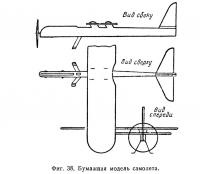Фиг. 38. Бумажная модель самолета