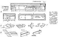 Фиг. 39. Рабочие чертежи модели и способ ее изготовления
