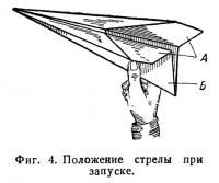 Фиг. 4. Положение стрелы при запуске