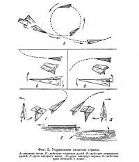 Фиг. 5. Управление полетом стрелы