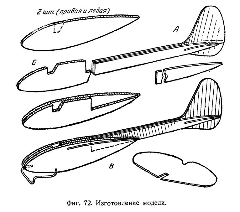 Фиг. 72. Изготовление модели
