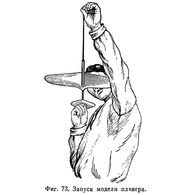 Фиг. 73. Запуск модели планера