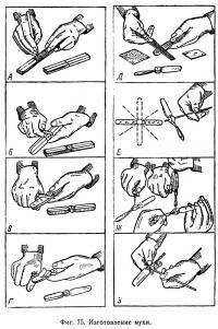 Фиг. 75. Изготовление мухи