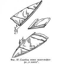 Фиг. 87. Склейка полос монгольфьера в замок