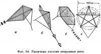 Фиг. 94. Различные плоские воздушные змеи
