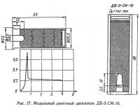 Puc. 17. Модельный ракетный двигатель ДБ-3-СМ-10
