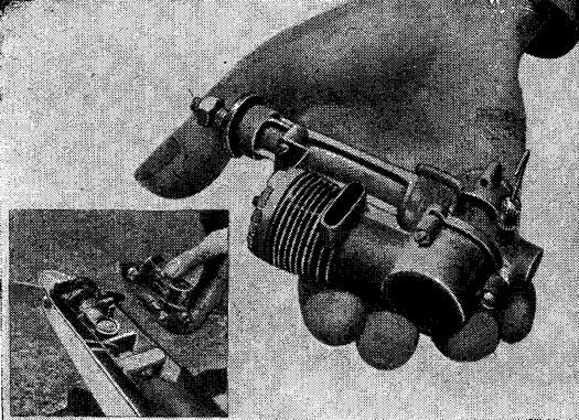 Рис. 100. Двигатель КВ с угловым редуктором