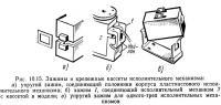 Рис. 10.15. Зажимы и крепежные кассеты исполнительного механизма