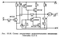 Рис. 10.18. Схема аналогового исполнительного механизма Teleradio ССТ-2
