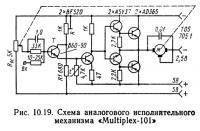 Рис. 10.19. Схема аналогового исполнительного механизма «Multiplex-101»
