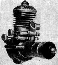 Рис. 103. Двигатель с двумя жиклерами для моделей, управляемых по радио
