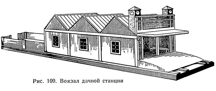 Рис. 109. Вокзал дачной станции