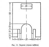 Рис. 11. Задняя стенка кабины