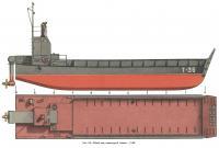 Рис. 110. Общий вид самоходной баржи «Т-36»