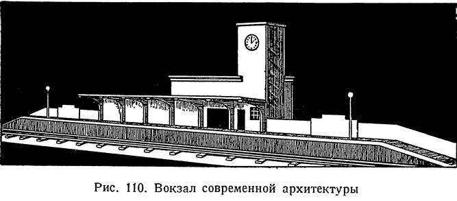 Рис. 110. Вокзал современной архитектуры