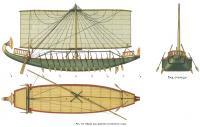 Рис. 112. Общий вид древнего египетского судна