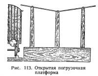 Рис. 113. Открытая погрузочная платформа