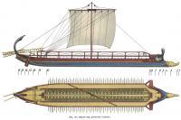 Рис. 114. Общий вид греческой триремы