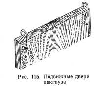 Рис. 115. Подвижные двери пакгауза