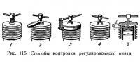 Рис. 115. Способы контровки регулировочного винта