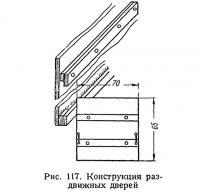 Рис. 117. Конструкция раздвижных дверей