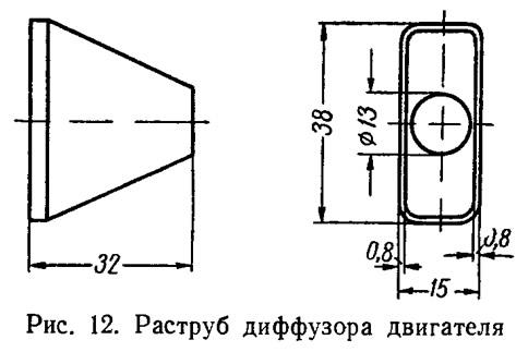 Рис. 12. Раструб диффузора двигателя