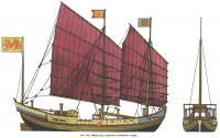 Рис. 122. Общий вид старинного китайского судна