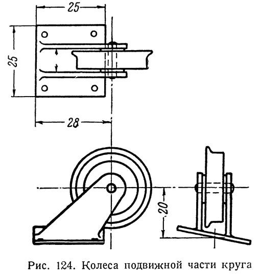 Рис. 124. Колеса подвижной части круга