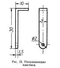 Рис. 13. Направляющая пластина