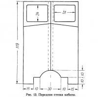 Рис. 13. Передняя стенка кабины