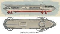 Рис. 139. Общий вид судна на подводных крыльях «Метеор»