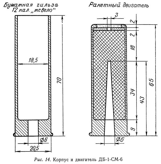 Рис. 14. Корпус и двигатель ДБ-1-СМ-6