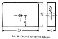 Рис. 14. Опорный кронштейн катушки