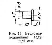 Рис. 14. Втулочка-подшипиик ведущей оси
