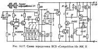 Рис. 14.17. Схема передатчика RCS «Competition-10» MK II