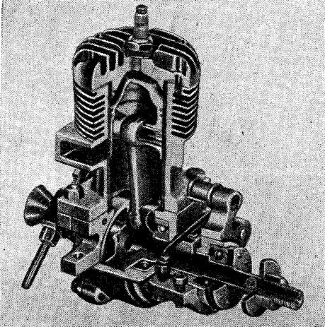 Рис. 144. Перспективный разрез двигателя с распределением дисковым золотником