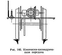 Рис. 146. Конически-цилиндрическая передача