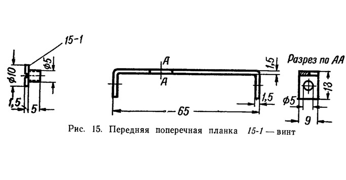 Рис. 15. Передняя поперечная планка