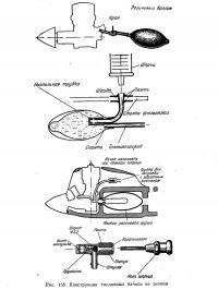 Рис. 158. Конструкции топливных бачков из резины