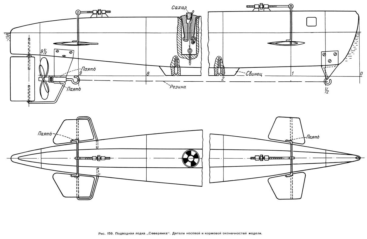 Модели подводной лодки своими руками 4
