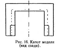 Рис. 16. Капот модели (вид сзади)